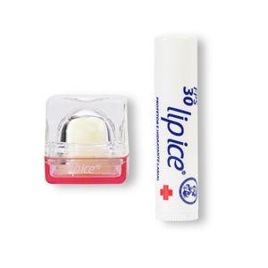 Protetor Labial Cube Morango + Lip Ice Alta Proteção Fps 30 Grátis